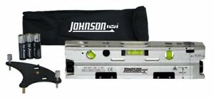 Johnson Level & Tool 40-6184 Three-Beam Magnetic Torpedo Laser L