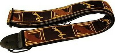 "NEW Fender 2"" Monogrammed Guitar Strap, BLACK/YELLOW/BROWN, #099-0681-000"