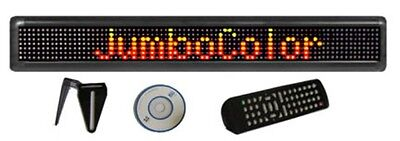 3 Color Programmable 4x24 Scrolling Led Sign Pc Software Remote Access Keyboard