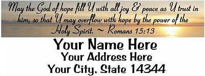 Bible Verse 30pcs Personalized Returnmailing Address Labels 1x2.625 Free Sh