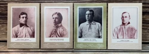 Beautiful Antique Style T206  Set of 4 8x12 Cabinet Cards on Direct Print Wood !