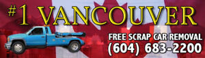 FREE SCRAP CAR REMOVAL VANCOUVER BC 604-683-2200 Paying Cash Now