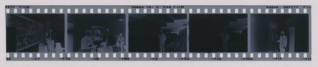 Strip Of 5 1962 Original Photo Negative DODGER STADIUM Opening Of NEW Home  - $45.44