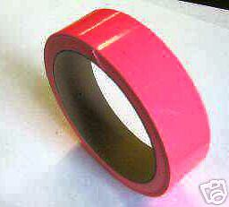 Fluorescent Pink Vinyl Tape 1 Inch X 25 Feet Glossy Solid Color Hot Pink Tape