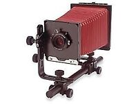 5 x 4 Calumet Camera with lens and film holders