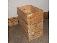 FRENCH WINE BOXES - PERFECT FOR HOME AND GARDEN - ONLY £5 EACH!