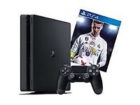Brand new slim 500gb PS4 with FIFA 18