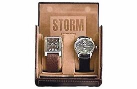 Brand new ,sealed mens brown 2 piece storm watch box rrp£24.99