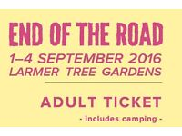 END OF THE ROAD 2016 - festival ticket. Line-up w/ Joanna Newsom, Animal Collective, Cat Power, Goat