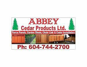 CEDAR FENCE PANELS SALE & INSTALLS FENCE PANEL TO