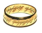 Lord of The Rings Ring Solid Gold