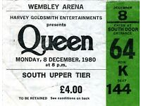 LESS THAN FACE VALUE Queen + Adam Lambert Tickets Sheffield Arena Friday 08th December 2017 08/12/17