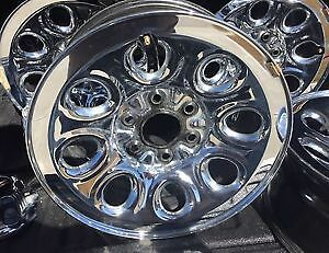 "4 x 17"" chrome rims"