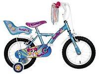 2 x Apollo Pom Pom Blue Girl's 14 inch Bike
