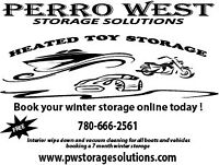 Heated indoor storage for boats, autos, bikes and small RV's
