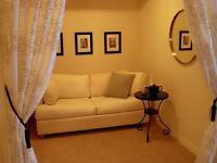 1 bdrm+den fully furnished & equipped