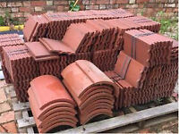 Clay roof tiles and ridge tiles