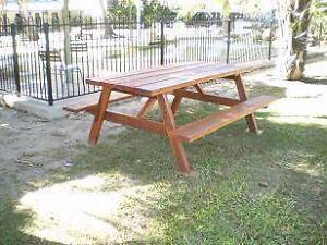 Rustic Picnic / BBQ  Table with,Seats for up to 8 People Bundaberg Surrounds Preview
