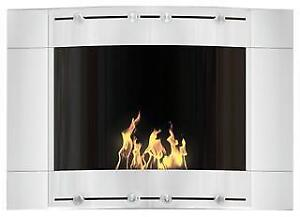 The Original Flame White Wave Decoflame Ethanol Fireplace - Display Model