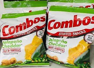 4Pk Combos Stuffed Snacks Jalapeno Cheddar Baked Pretzels 6.30oz ~ FREE SHIP !
