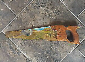 Hand painted saw