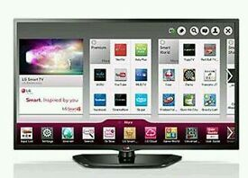"LG 47"" LED smart tv Wi-Fi built in HD freeview USB media player full hd 1080p."