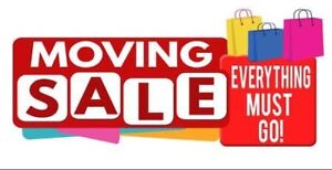 Moving yard sale everything must go!
