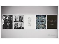 NEW Superb U2 - 5 Silkscreen Lithograph Prints U2 Fan Club Exclusive