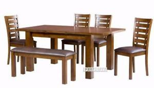 Ifurniture Sale Frank 7 PCS Solid Wood Dining Set 799