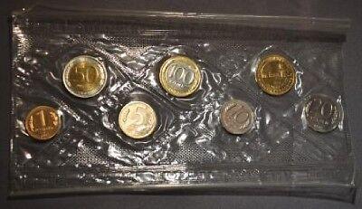 1992 Russia 1 year type Mint set 6 coins- 2 bi-metal BU