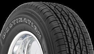 Four Firestone tires for sale.