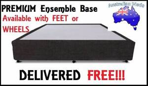 DELIVERED FREE Queen Size PREMIUM UPHOLSTERED Ensemble Bed Base New Farm Brisbane North East Preview