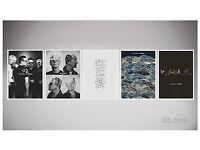 Superb U2 - 5 Silkscreen Lithograph Prints U2 Fan Club Exclusive