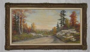 Art-Oil painting-Northern Ontario landscape-By O.J. Coghlin