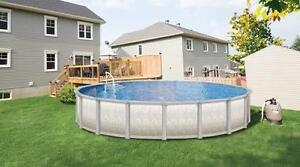 Installation de piscine hors-terre et réparations