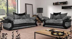 Luxury Sheldon 3&2 sofas with free pouffe