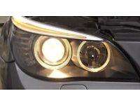 LCI HEADLIGHTS GENUINE••BMW E60••RETROFIT FOR PRE LCI COMPLETE