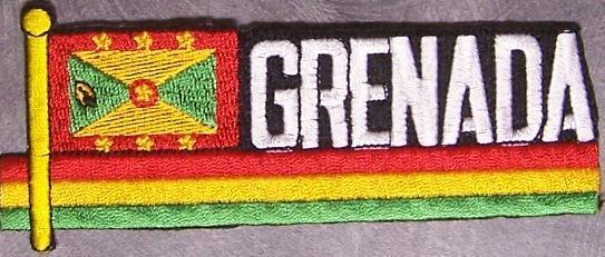 Embroidered International Patch National Flag of Grenada NEW streamer