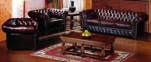 Chesterfield leather 3 seater sofa plus 2 tub chairs Ballarat Central Ballarat City Preview
