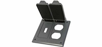 Greenfield Ctsdr2ps Series Weatherproof Electrical Outlet Box Cover Gray