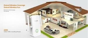 Tenda A301 Wireless-N300 Universal Range Extender - Push and Con