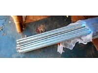 Threaded Construction Bars, each 3m length to fit M10 and M8 nuts