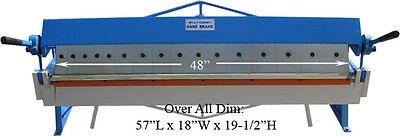 48 Pan Hand Brake Box Bender Bending Removable Fingers 16 Gauge