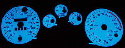 85 86 87 88 89 Chevy Camaro 145mph Blue / Green Glow Gauge Face Z28 Iroc