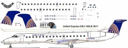 United Express Embraer ERJ 145 Pointerdog7 decals for Welsh 1/144 kits