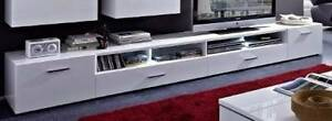 TV Unit - LED - 2 Drawers - White Gloss + 2 Extra Side Drawer Malaga Swan Area Preview