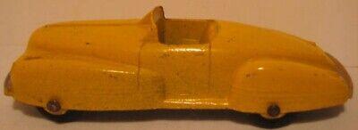 Elegant Old Metal Toy Sports Car 4 1/4 Tootsie Toy Buick Yellow 1938