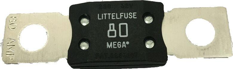 Mega Fuse 80 Amp Bolt Down M8 White Copper Ends 12v 24v 32v Cargo 192793 731084222162