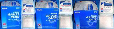 """DUKAL Sterile 12-Ply 100% Cotton Gauze Pads  100 2x2"""" 3x3"""" 4"""