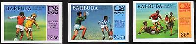 BARBUDA 1974 WORLD CUP SOCCER/FOOTBALL CPL SET FIRST PART SC#162,165-166 IMPERF